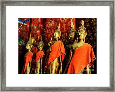 Framed Print featuring the photograph Buddha Laos 2 by Bob Christopher