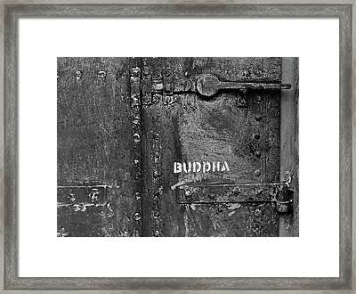 Framed Print featuring the photograph Buddha by Laurie Stewart