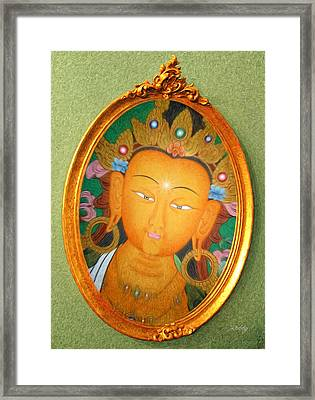 Framed Print featuring the painting Buddha Mirror by Robby Donaghey