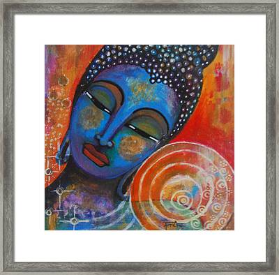 Framed Print featuring the painting Buddha by Prerna Poojara