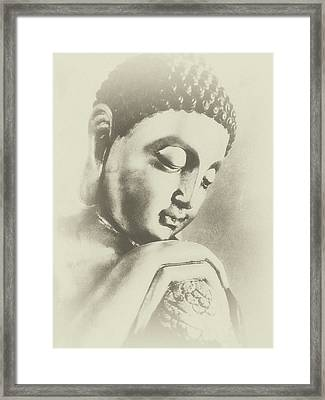 Buddha Profile Dream Framed Print