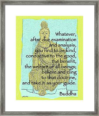 Buddha Quote 3 Framed Print