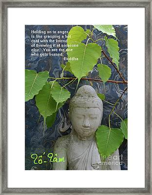 Buddha Quote Framed Print