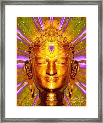 Buddha Smile Framed Print by Khalil Houri