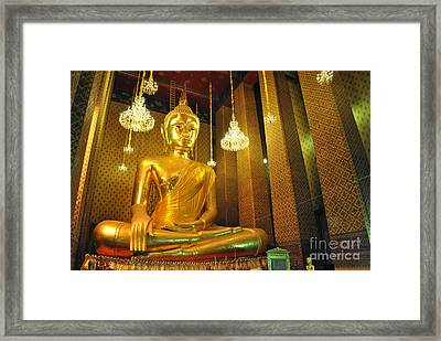 Buddha Statue Framed Print by Somchai Suppalertporn
