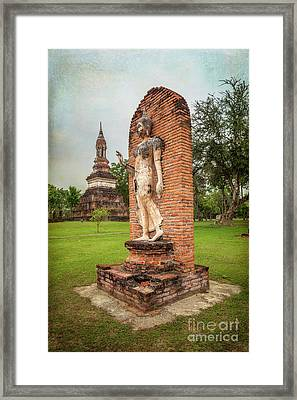 Framed Print featuring the photograph Buddha Statue Sukhothai by Adrian Evans