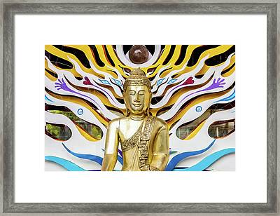 Buddha Strings Framed Print by Art Block Collections