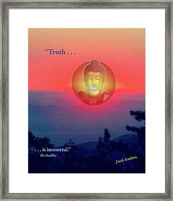 Buddha Sunset Framed Print by Jack Eadon