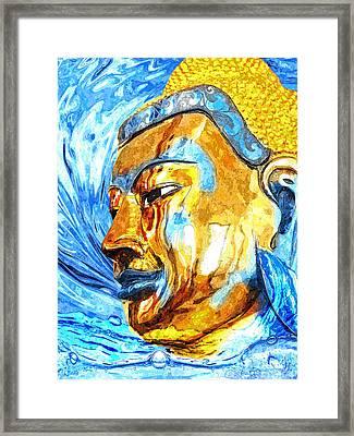 Buddha Surf Framed Print by Khalil Houri