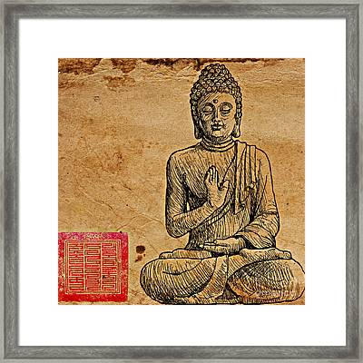 Buddha The Minimalist Framed Print