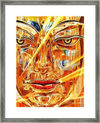 Buddha Titanium Framed Print by Khalil Houri