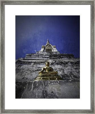 Buddha Watching Over Framed Print by Dylan Newstead