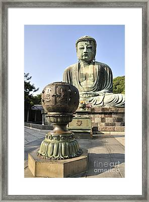 Buddha With Urn Framed Print