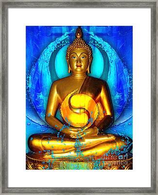 Buddha Yin Yang Framed Print