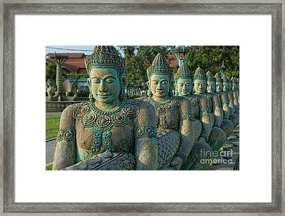 Buddhas All In A Row Framed Print