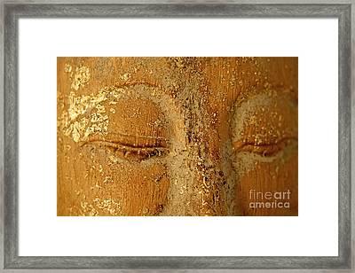 Buddha's Eyes Framed Print