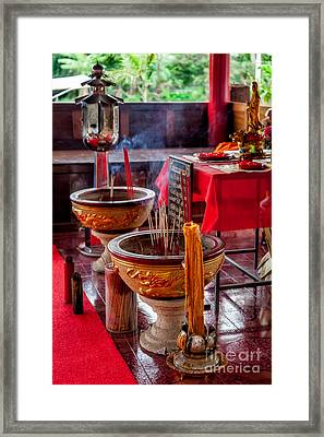 Buddhist Incense Framed Print by Adrian Evans