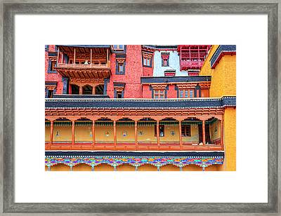 Framed Print featuring the photograph Buddhist Monastery Building by Alexey Stiop