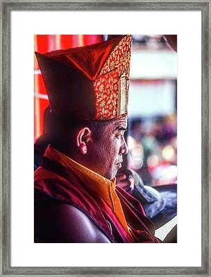 Buddhist Monk 2 Framed Print