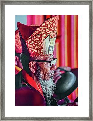 Buddhist Monk 3 Framed Print