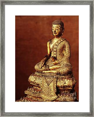 Buddhist Monk Image From The Early 19th Century Framed Print