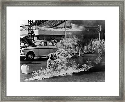 Buddhist Monk Thich Quang Duc, Protest Framed Print