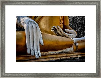 Buddhist Statue Framed Print by Adrian Evans