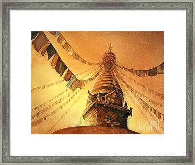 Buddhist Stupa- Nepal Framed Print by Ryan Fox