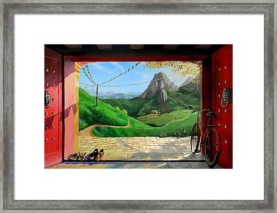 Buddhist Temple Framed Print