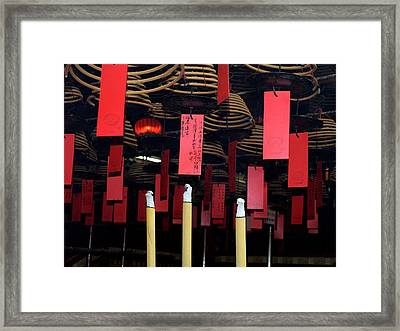 Buddhist Temple Ladder Street 2 Hong Kong Framed Print by Michael Canning