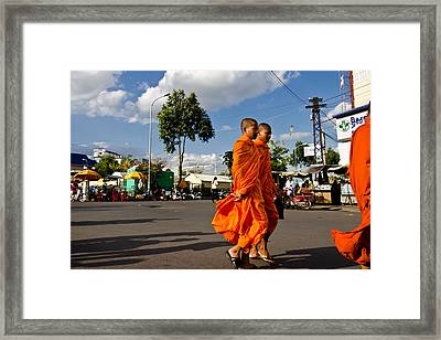 Buddhists Framed Print