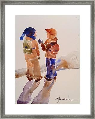 Buddies Framed Print by Marilyn Jacobson
