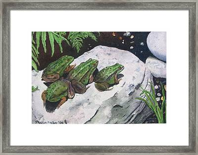 Buddies Framed Print by Sharon Farber