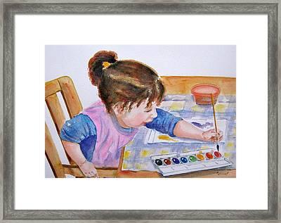 Budding Artist Framed Print