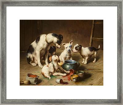 Budding Artists Framed Print by Carl Reichert