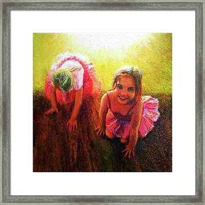 Budding Ballerinas Framed Print by Michael Durst
