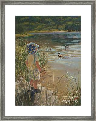 Budding Wildlife Expert Framed Print