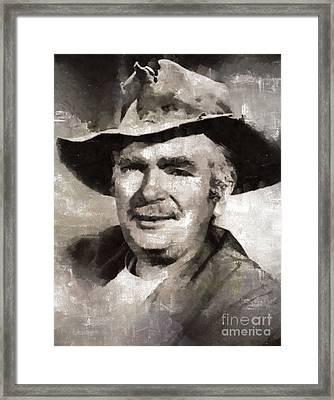 Buddy Ebsen, Actor Framed Print by Mary Bassett