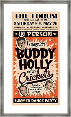 Buddy Holly Framed Print