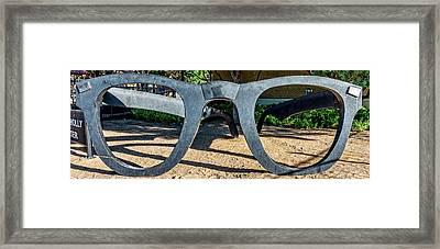 Buddy Holly Glasses Framed Print