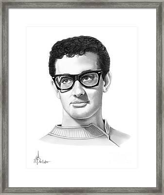 Buddy Holly Framed Print by Murphy Elliott