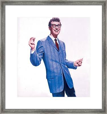 Buddy Holly Promotional Photo. Framed Print
