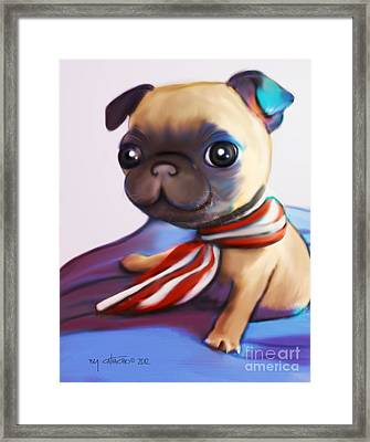 Buddy The Pug Framed Print