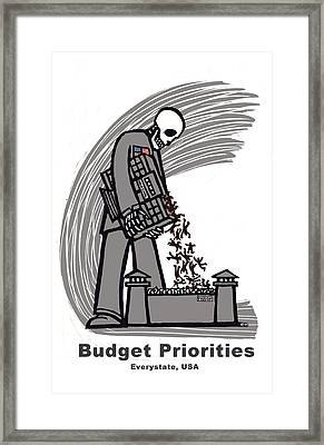 Budget Priorities Framed Print