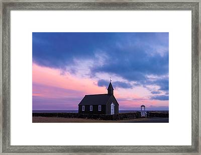 Framed Print featuring the photograph Budir Black Church by Pradeep Raja Prints