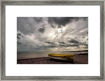 Budleigh Salterton Beach Framed Print