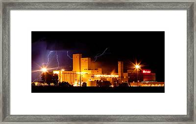 Budweiser Brewery Lightning Thunderstorm Image 3918 Panorama Framed Print by James BO  Insogna