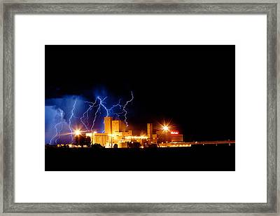 Budweiser Lightning Thunderstorm Moving Out Framed Print by James BO  Insogna