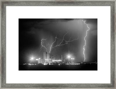 Budweiser Power Bw Framed Print by James BO  Insogna