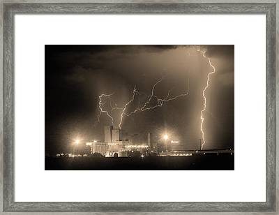 Budweiser Power Bw Sepia Framed Print